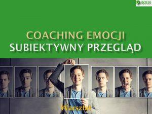 Coaching emocji