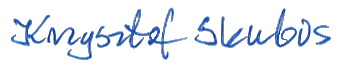 Podpis. Krzysztof Skubis